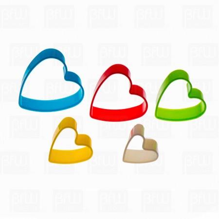 Cortador plastico corazon 5 pzs dif tamaños