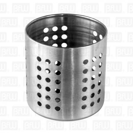 Cilindro porta cubiertos acero inox 12 5 x 12cm buffetware for Porta cucharas cocina