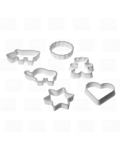 Cortador plastico 6 piezas dif fig