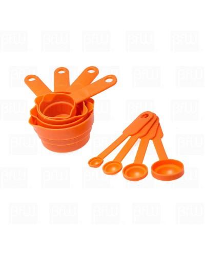 Juego de tazas y cucharas medidoras de plástico 8 piezas