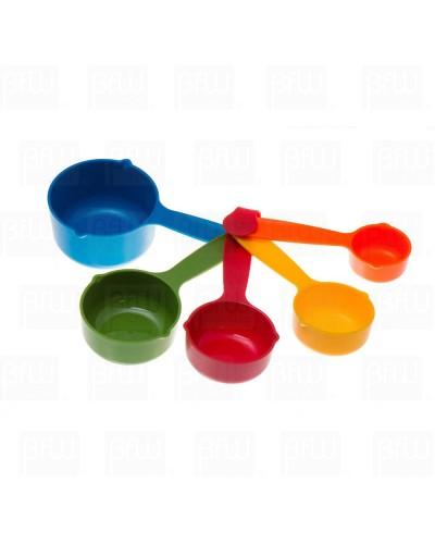 Tazas medidoras de plástico colores 5 piezas