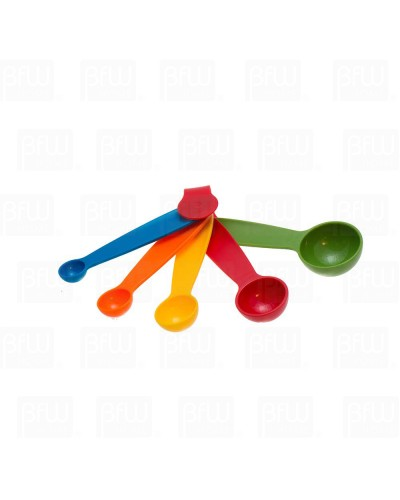 cucharas medidoras de plástico colores 5 piezas