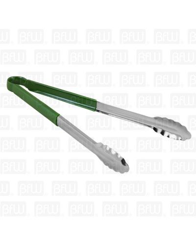 PINZA 16PG VERDE ACERO INOXIDABLE BUFFETWARE
