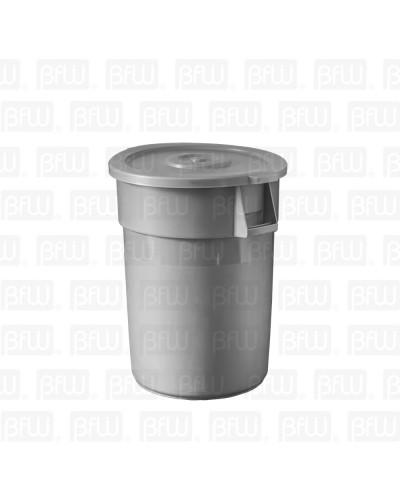 BOTE DE BASURA REDONDO 128LT GRIS PLASTICO