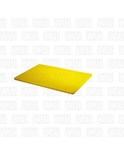 TABLA DE CORTE ALTA DENSIDAD 12X18X1/2PG AMARILLA BUFFETWARE